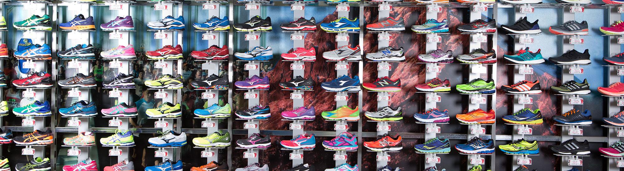 scarpe parete